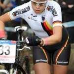 La guapa alemana Hanna Klein en plena competición