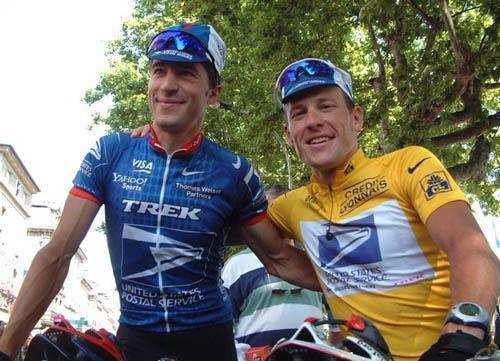 Lance Armstrong y Chechu Rubiera