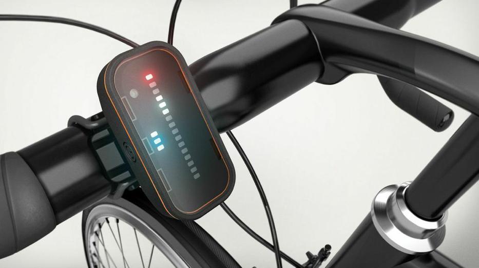 Parte delantera del radar para ciclistas
