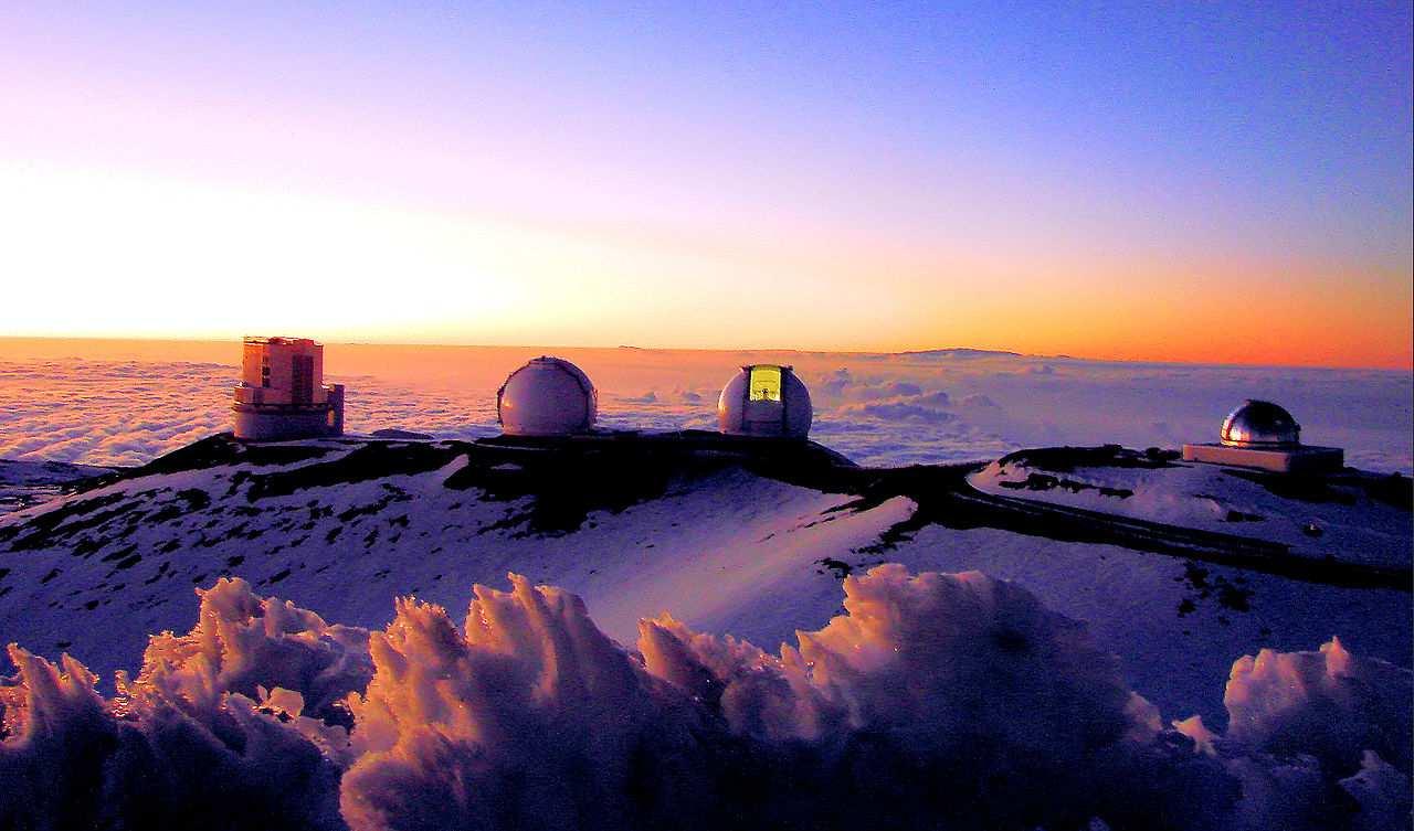 Observatorios situados en la cima del Mauna Kea
