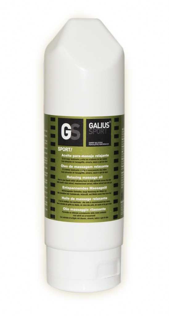 Aceite para masaje relajante de Galius Sport en su formato de 200 ml