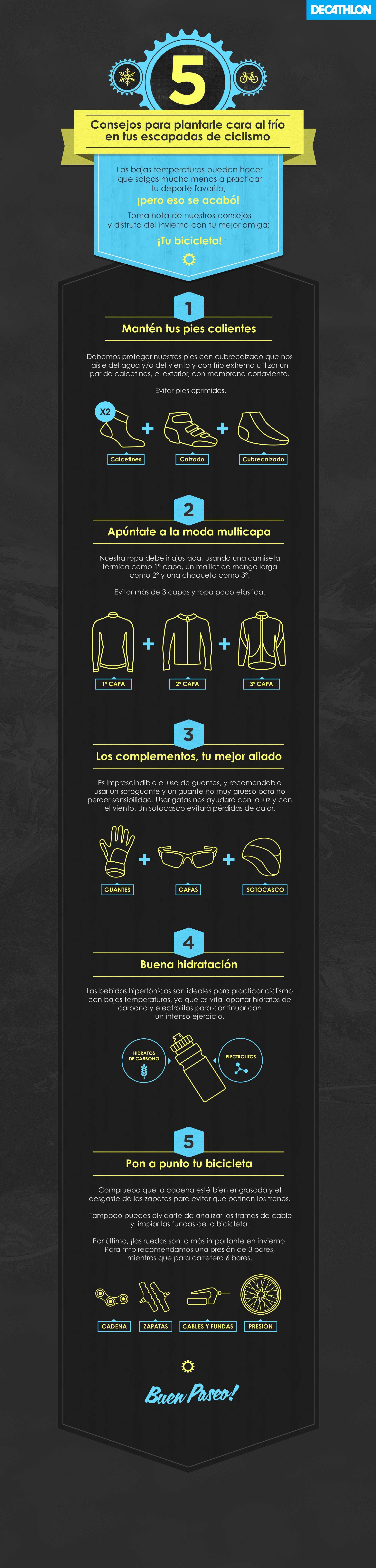 Infografía de Decathlon para ayudarnos a luchar contra el frío