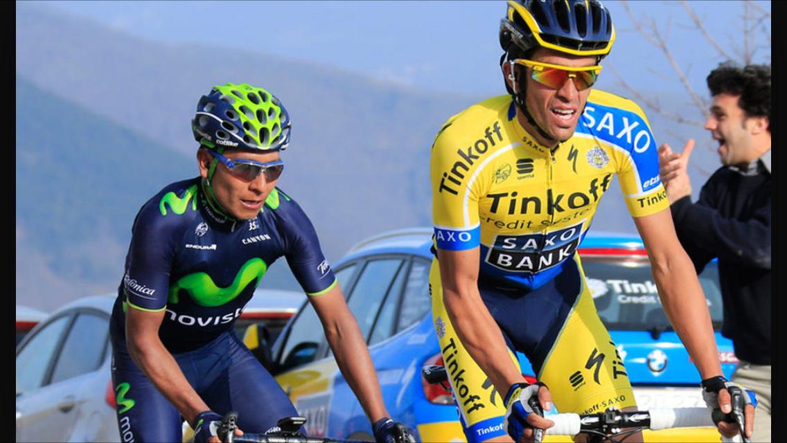 Contador y Quintana en una de sus múltiples batallas