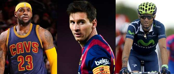 Valverde, Lebron, Messi