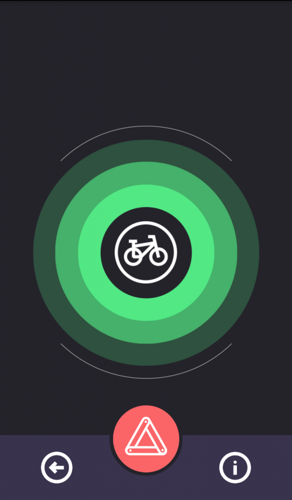 Pantallazo de la aplicación para ciclistas Comobity