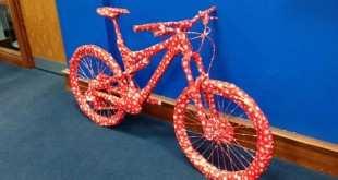 Bicicleta envuelta para regalo