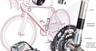 Ejemplo de mecanismo fraudulento en una bicicleta. Procedente de la Voz de Galicia