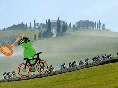 El Tío del Mazo siempre acecha  los ciclistas