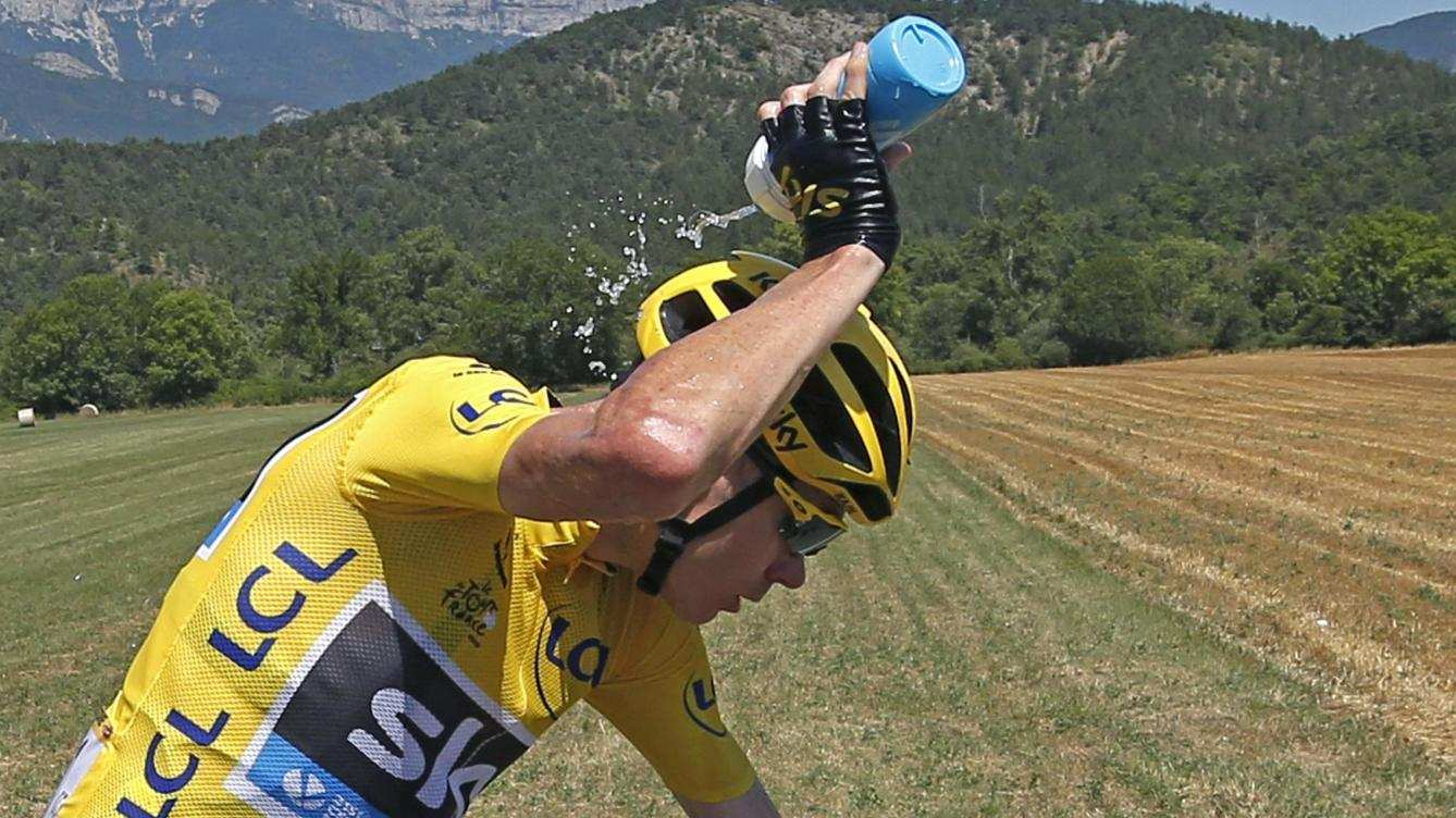 Froome se refresca