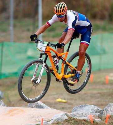 Sagan en la prueba de BTT de Río
