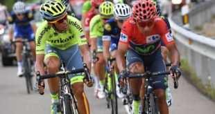 Contador y Quintana charlan durante la fuga a ayer