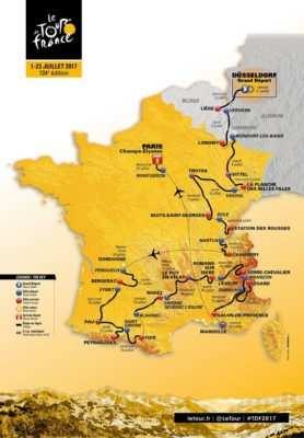 recorrido Tour francia 2017