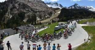 Preciosa imagen de la disputa del Giro de Italia