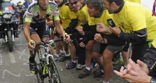 Juanjo Cobo en la subida al Anglir