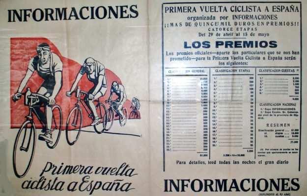Cartel de la primera Vuelta a España. Fuente: wikiwand.com