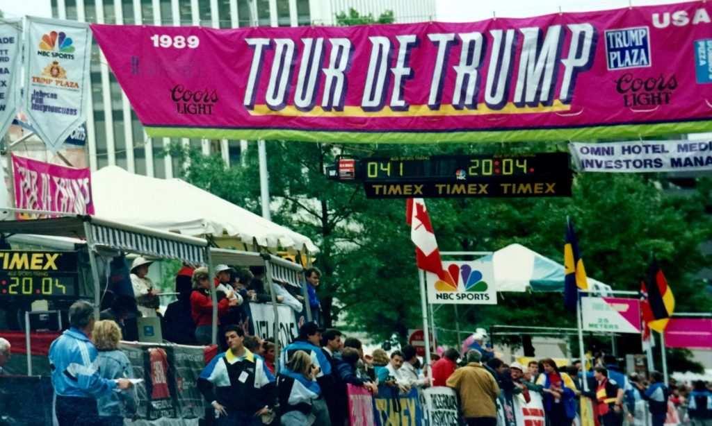 Línea de meta del Tour de Trump de 1989