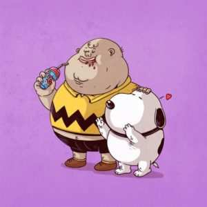Snoopy sin bici
