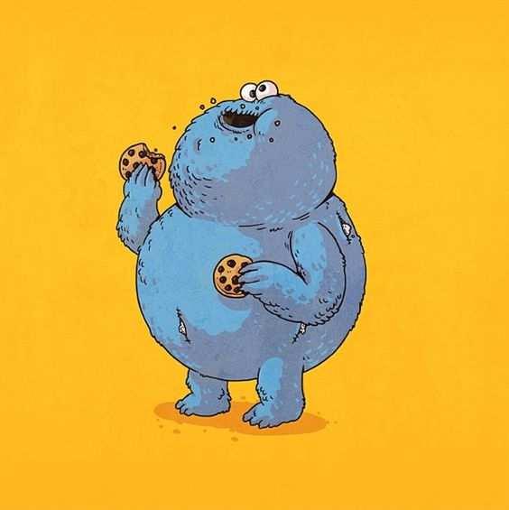 triky monstruo galletas gordo