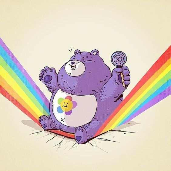 osos aplastando arco iris