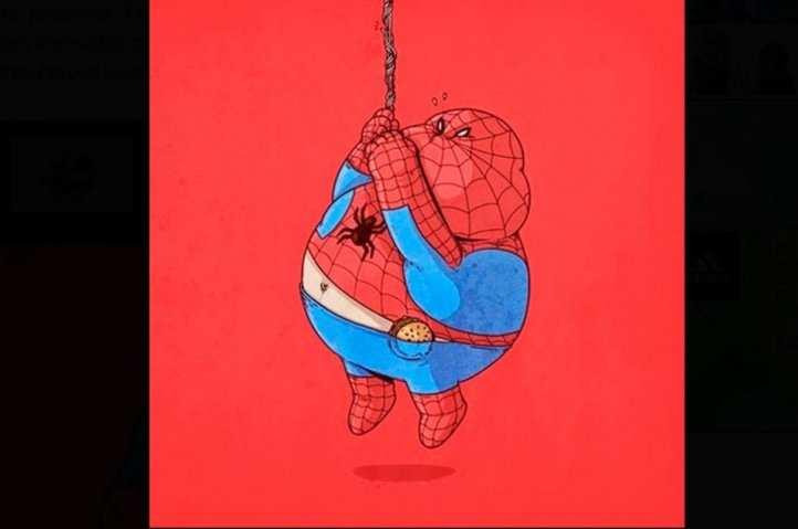 Spiderman en cuerda