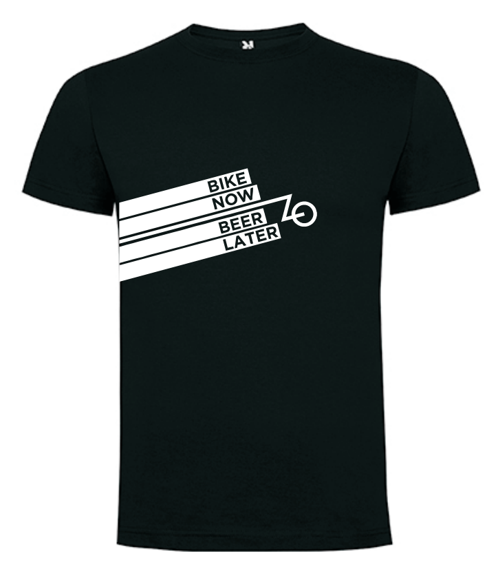 camiseta ciclismo urbano negra
