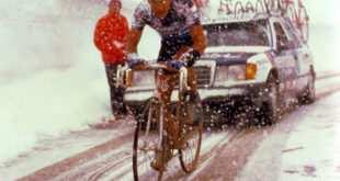 Perico en la terrible jornada ciclista del Gavia