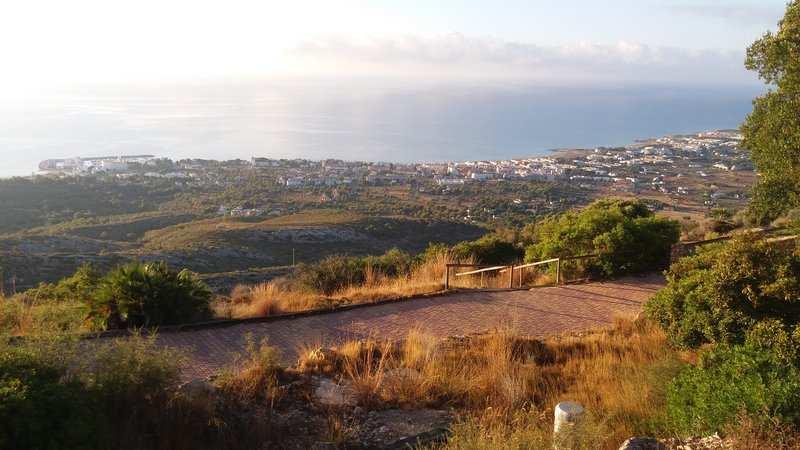 Imagen de la vista en la subida a la Ermita de Santa Lucía