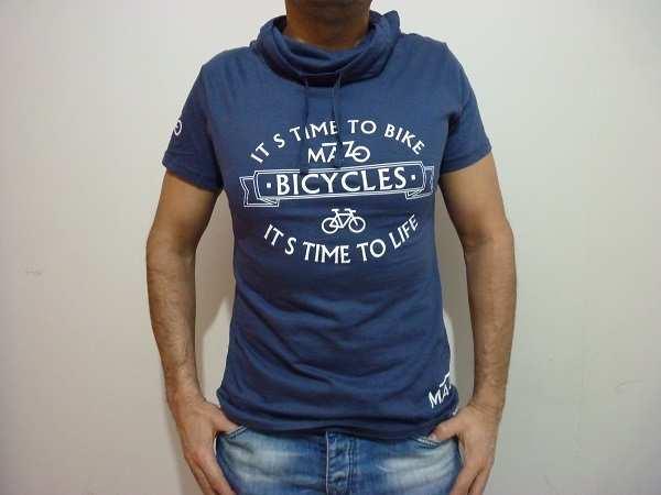 Camiseta con cuello It´s time to bike