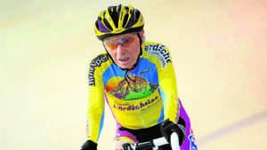 Robert Marchand en el velódromo