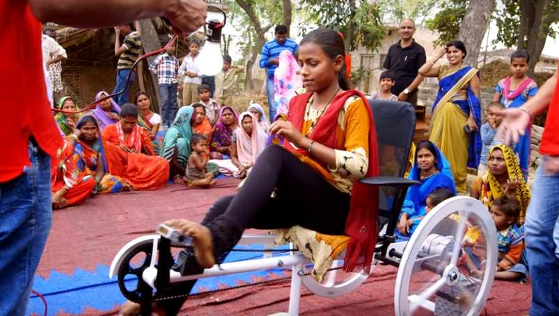 Imagen de la prueba piloto en India