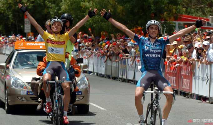 Tour Down Under 2005. Contador y Luis León Sanchez