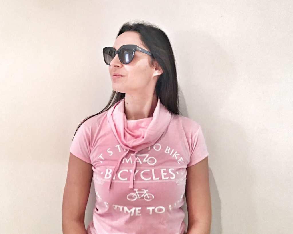 camiseta rosa bicis