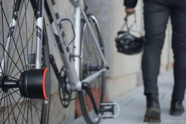 Candado en la bicicleta inmovilizada