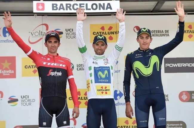 Soler junto a Valverde y Contador. Presente y futuro