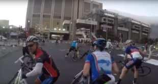 El viento huracanado hace estragos en una carrera ciclista de Sudáfrica