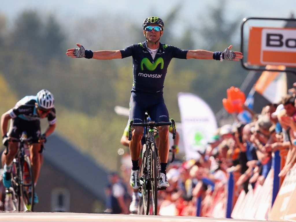 Valverde se impone en el Muro de Huy