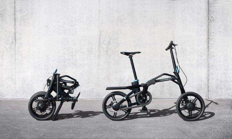 Bicicleta eléctrica plegable eF01 de Peugeot