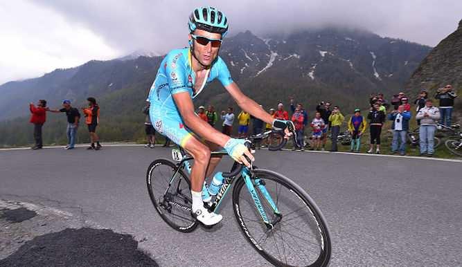 Michele Scarponi en su elemento, la montañ