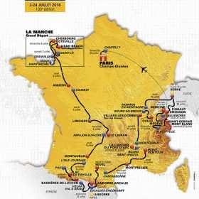 Mapa del Tour de Francia 2017