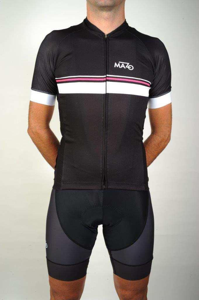 Conjunto maillot y culotte ciclismo El Mazo Routes rosa