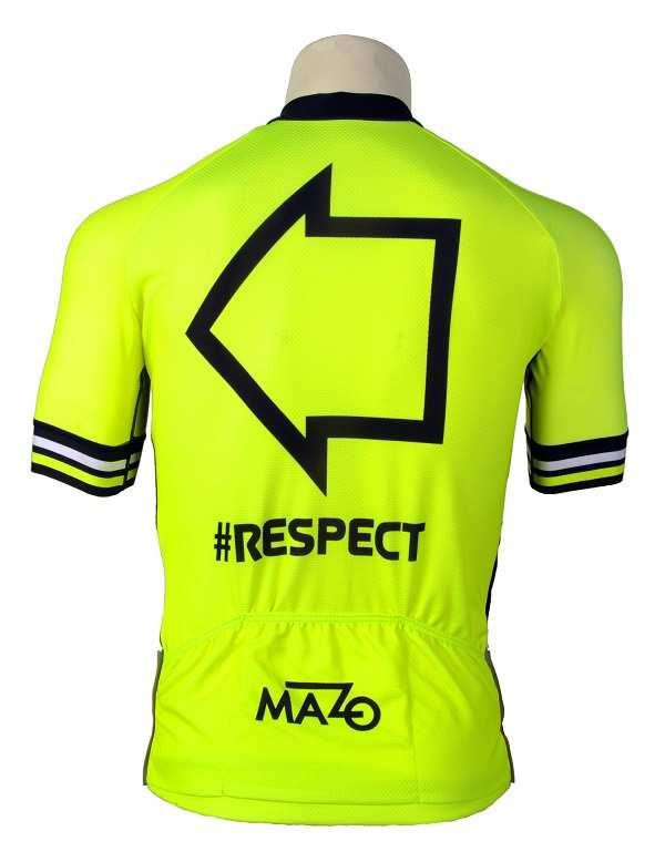 Maillot El Mazo Respect Flúor vista trasera