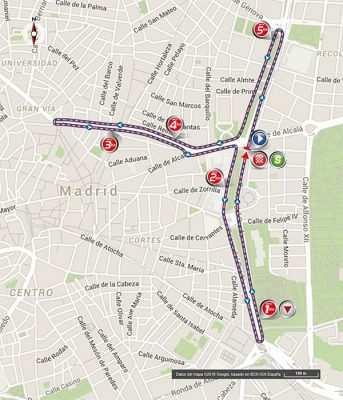 Recorrido Madrid última etapa vuelta a españa