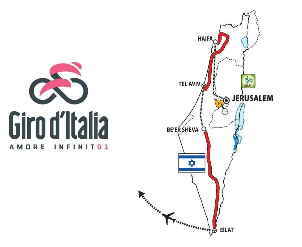 Salida del Giro de Italia en Israel