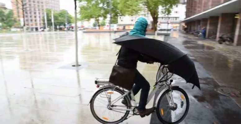 Bici paraguas