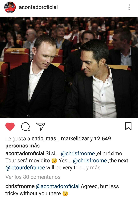 Respuesta Froome a Contador