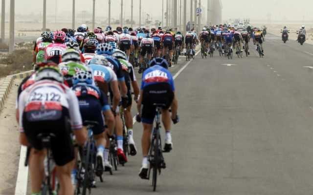Abanicos pelotón ciclista