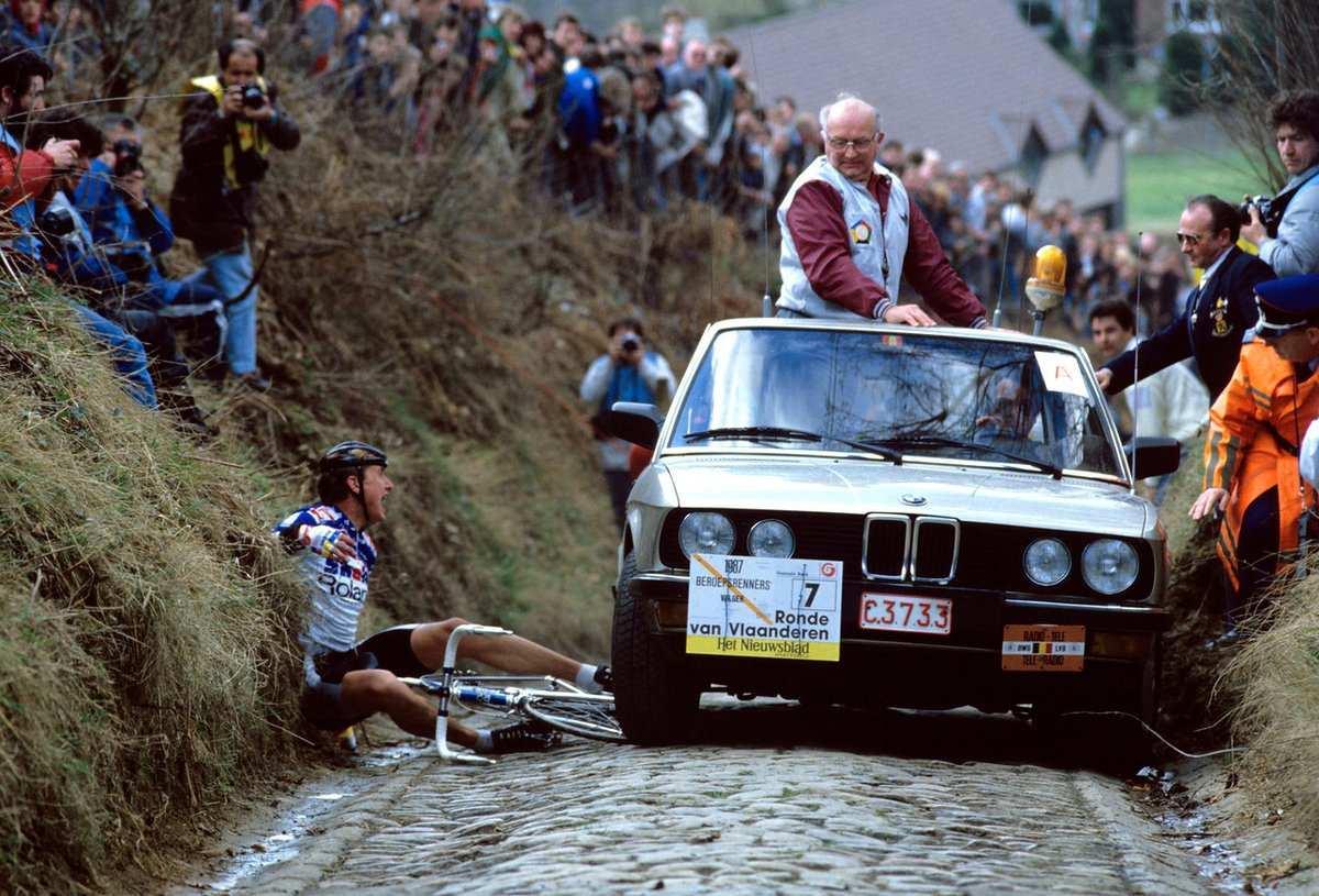 Tour de Flandes accidente
