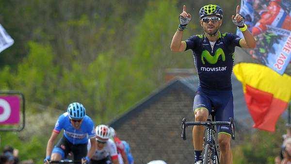 Queremos ver por TV la sexta victoria de Valverde en la Valona