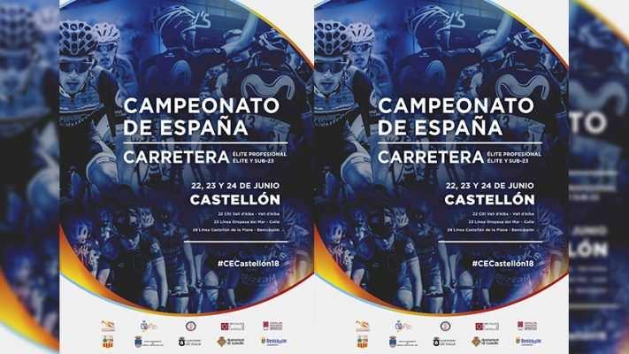 Cartel oficial de la RFEC de los campeonatos de España de Ciclismo en Castellón