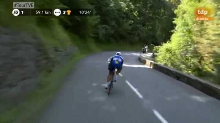Gilbert en su vertiginoso descenso antes de la curva de su caída